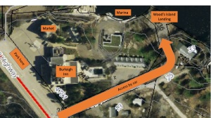 map showing Woods Island Landing-2